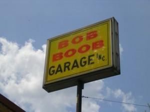 Bob Boob sign.